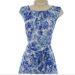 R&K Dresses - 18 2X▪️FLORAL LACE FIT & FLARE DRESS W/TIE Plus Sz